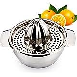 EgoEra® Professionnel Inox Presse-agrumes Manuel Chaux Orange Juicer / Presse-citron / Presse Fruit avec Bol pour la Cuisine de la Barre d'accueil