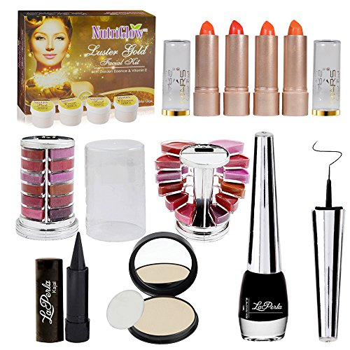Adbeni-Summer-Vacation-Combo-Offer-Makeup-Set-Orange-Lipstick-4pc-Lipgloss-1pc-Kajal-1pc-Eyeliner-1pc-Compact-1pc-Assorted-Eyeshadow-1pc