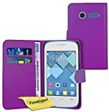 FoneExpert Alcatel One Touch Pop C1 - Etui Housse Coque en Cuir Portefeuille Wallet...