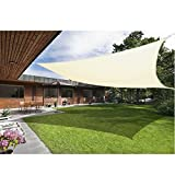 Greenbay Sonnensegel Sonnenschutz Segel, UV Schutz für Balkon Terrasse Garten, Quadrat 5x5m Creme