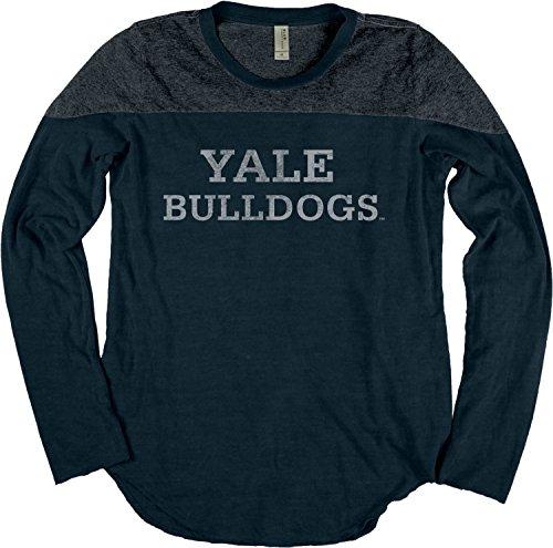 Blue 84 NCAA Yale Bulldogs NCAA Damen-T-Shirt, langärmelig, Joke, Größe S, Indigo -