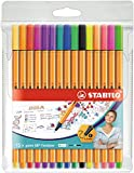 Fineliner - STABILO point 88 - Astuccio da 15 - Colori assortiti