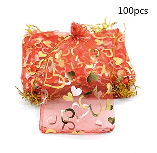 Serie Vii Filter (Bobopai 100pcs Organza Gift Bags, Sheer Drawstring 7x9 cm Wedding Party Favor Candy Bags Jewelry Pouches by SamGreatWorld (7x9 Red))