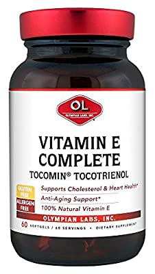 Olympian Labs Vitamin E Complete Tocomin Tocotrienol (60 Softgels) by Olympian Labs