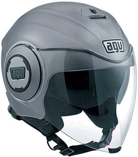 AGV J4811A4G0004L Casco Fluid E2205, Solid Grigio, Misura 9 - Agv Sport Moto