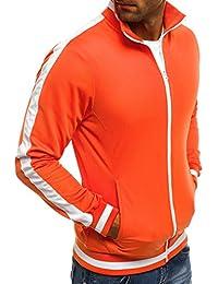 OZONEE Herren Sweatshirt Sweatjacke Sportjacke Pullover Pulli Basic  Klassiker Longsleeve O 2126 e32d014c3d