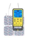 Electroestimulador muscular con 55 masaje, Tens, EMS y programas manuales. Para Alivio del dolor, tonificación y relajación muscular