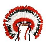 Widmann 2927H Indianerkopfschmuck, Unisex– Erwachsene, Mehrfarbig, Einheitsgröße