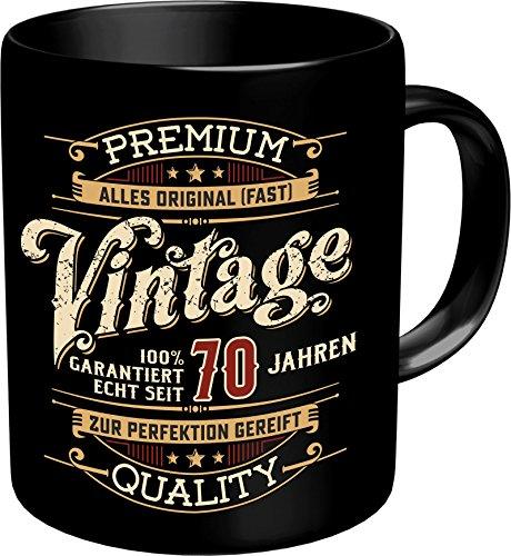 RAHMENLOS Original Kaffeebecher zum 70. Geburtstag: Vintage 70 - Im Geschenkkarton 2640 (Geburtstag 70. Geschirr)