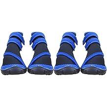 BEETEST 4pcs impermeable antideslizante goma única lluvia mascota botas zapatos para accesorios del perro cachorro Talla S