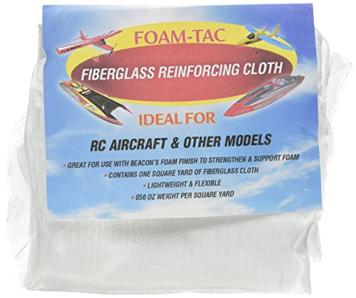 Foam-Tac Stärkung Fiberglas Tuch, Stoff, Klar (Tac Stoff)