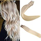 Easyouth Tape in Hair Extensions 14 zoll 50g 20Stück pro Paket Farbe #18/22/60 18 Fading zu 22 Highlight mit 60 Tape in Ombre Extensions