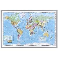 NAGA Framed World map, 90 cm x 60 cm