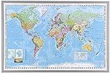 NAGA, Gerahmte Weltkarte, 90 x 60 cm
