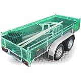 Anhängernetz Gepäcknetz zur Ladungssicherung 2 x 3 m dehnbar bis 3,8 x 4,2 m