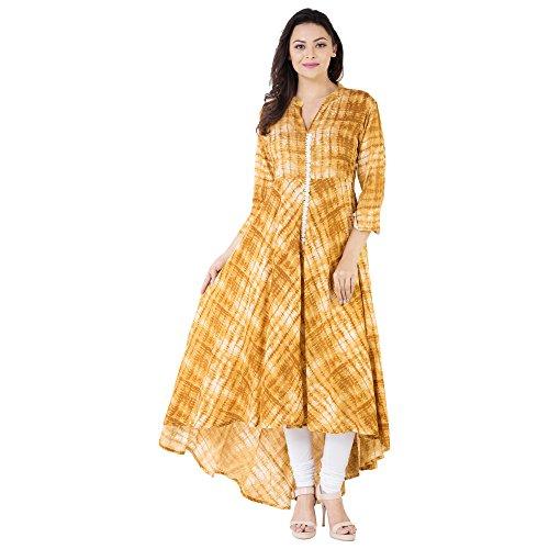 Khushal Rayon Printed Long Lenght Up & Down Hemline Designer Dress ,...