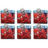6pieza Marvel Spiderman Hucha con candado obsequios