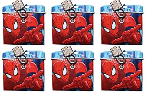 6pezzi Marvel Spiderman salvadanaio con serratura Mitgebsel