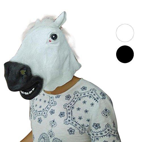 bloatboy ✅ Lustig Pferd Helm Mask - Latex Maske Halloween Cosplay Maske Maskerade Party Festivals Parteien (Weiß - Pferde Nase Maske Kostüm