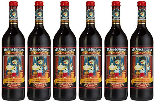 GERSTACKER Schneemann-Punsch aromatisiert mit Amaretto-Auszügen (6 x 745 ml)
