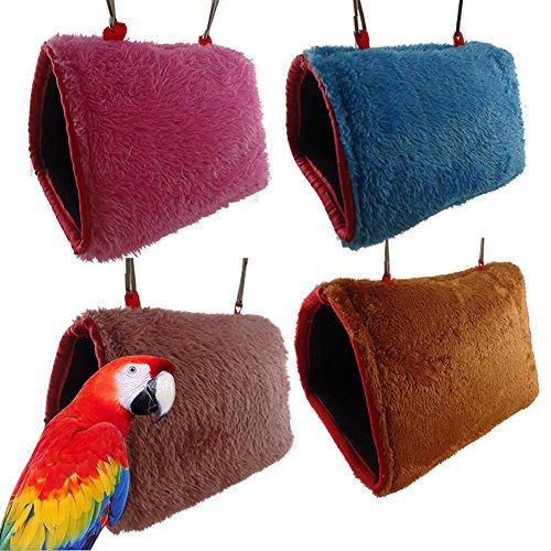 Vito546rton, amaca da appendere, spessa, morbida e calda, per criceti, pappagalli, conigli, animali domestici, cuccia in peluche, colore casuale s