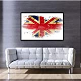 Abstracto famoso pintura al óleo lienzo Reino Unido bandera colorida decoración del hogar arte de la pared noche estrellada pared imagen Vincent Willem Van Gogh impresiones 40 * 60 cm