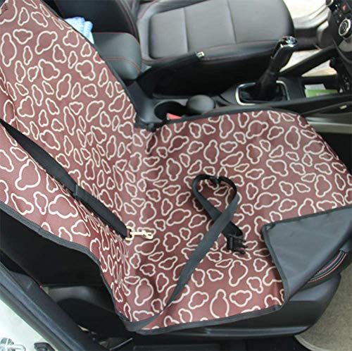 Haustier Auto Seat Matte Single-Sitz Falten Wasserdicht Oxford Fabric Pilot Hunde Träger Pad Gut Für Die Reise,Brown -