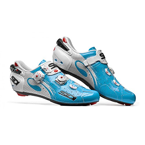 Chaussures route WIRE CARBON AIR 2017 Running Trail Sidi bleu/blanc