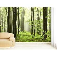 Papel pintado bosque - Papel pintado amazon ...