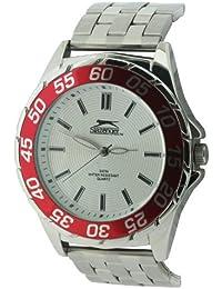 SLAZENGER SLZ158/C - Reloj de pulsera hombre, color plateado