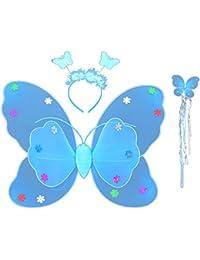 Vococal® 3 Pcs impériale Butterfly Wings Headband et baguette Set Kid fille enfants Costume Cosplay Halloween Party