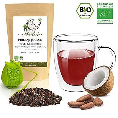 Thé Noir Cacao Intense Bio - thé biologique -250g - Infuseur Chouette offert