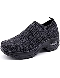 893a9647ea5 Zapatos Deporte Mujer Zapatillas Deportivas Correr Gimnasio Casual Zapatos  para Caminar Mesh Running Transpirable Aumentar Más