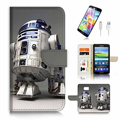 Samsung Galaxy S7Flip Wallet Schutzhülle & Displayschutzfolie & Ladekabel Bundle. A4127Krieg der Sterne BB8