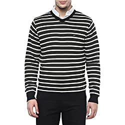 Numero Uno Mens V Neck Stripe Sweater