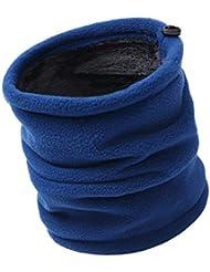 IKuaFly Lana Thermico Snood Neck Warmer Mask Beanie Windstopper - Invierno Bufanda Tubular Cuello para Esqui Moto Ciclismo Snowboard Running Pasamontañas (azul)