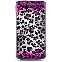 """GRÜV Premium Case - Design """"Rosa Skin Fellfleckenmuster Leopard, Gepard"""" - Qualitativ Hochwertiger Druck Schwarze Hülle - für HTC G20 Rhyme Bliss 6330"""
