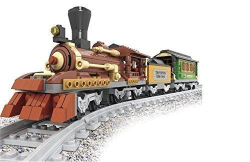 Train-Set-Coal-Car-Passenger-Carriage-Classic-Steam-Engine-9pcs-Tracks-25809
