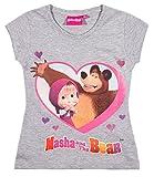 Mascha und der Bär Mädchen T-Shirt - grau - 110