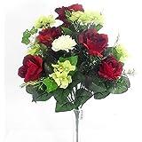 LED-Fiore artificiale, rosa, idea regalo per matrimoni Valentine s