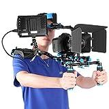 Neewer Film Video Macher System Set mit F100 7-Zoll 1280x800 IPS-Bildschirm Feldmonitor (4k Eingabeunterstützung) und Cool Kugelkopfarm für Canon Nikon Sony DSLR-Kameras Video-Camcorder