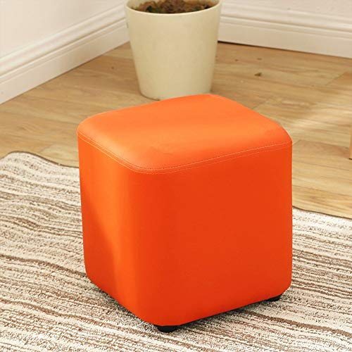 Diaosi xiaodengzi sgabelli per bambini soggiorno camera da letto sgabelli pu sgabelli in legno massiccio panchine sgabelli quadrati sgabelli (colore : orange)