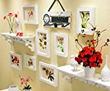 Best Pictures For Living Room Decors - WollWoll Flowers and Leaves with Wall Decoration Shelf Review