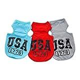 Best Usa camisas - DealMux camisa de perro USA 1776 camiseta de Review