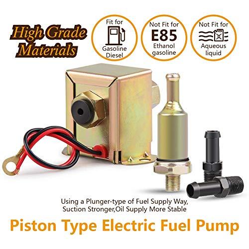 BEESCLOVER Pompe /à Carburant /électrique Basse Pression 12 V//24 V