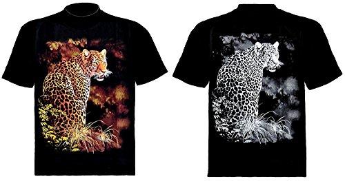 Tiermotiv T-Shirt Wolf Grau Batik Grau Batik