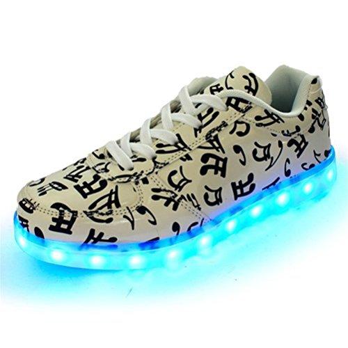 [+Kleines Handtuch]Kinderschuhe USB Lade Licht Jungen emittierende Schuhmädchenschuh leuchtende LED beleuchtete Sportschuhe großer Junge Sc c28