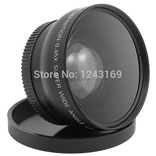 Bidyn (TM) 52 mm, 0,45 x lente grandangolare Macro, per fotocamere Nikon D3200, D3100, D5200, D5100, SZ