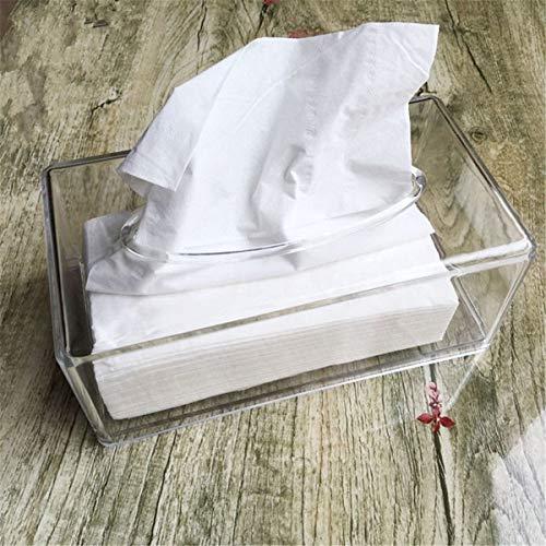 Joeesun Abnehmbare transparente Tissue Container Halter Rollenpapier Tissue Box Fall für WC Home Office Handtuch Serviette Log Tissue Holder (Log-servietten)