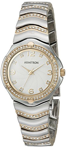 Armitron Women's 75/5431WTTT Swarovski Crystal Accented Two-Tone Bracelet Watch